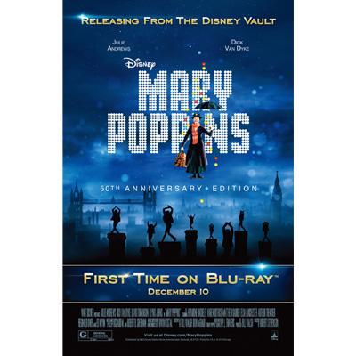 『メリー・ポピンズ』ブルーレイ発売時のアメリカ版ポスターをダウンロードしよう!
